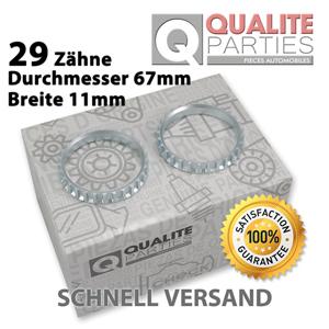 2x ABS RING 29 ZÄHNE OPEL COMBO CORSA B C MERIVA TIGRA ANTRIEBSWELLE 66,8mm